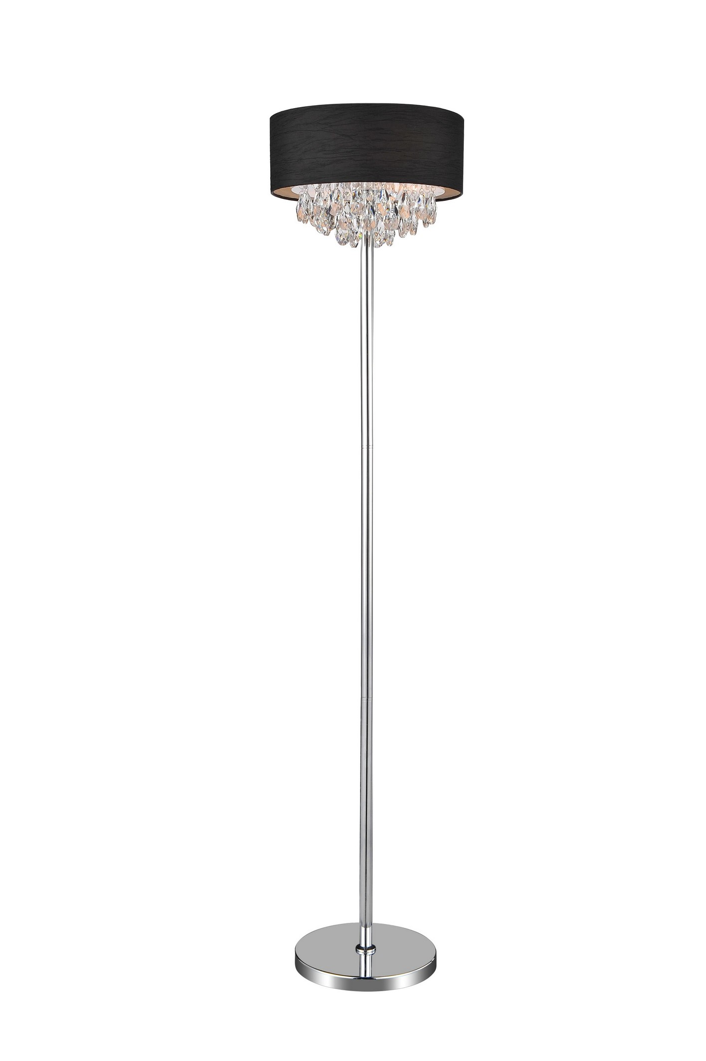 4 Light Floor Lamp with Chrome finish