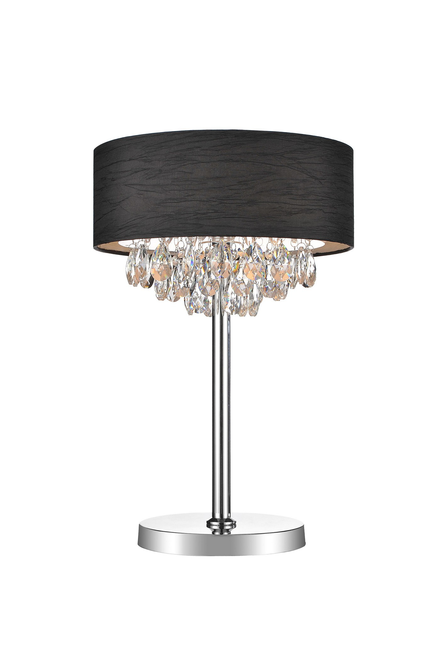 3 Light Table Lamp with Chrome finish