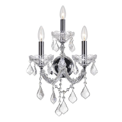 3 Light Wall Sconce with Chrome finish