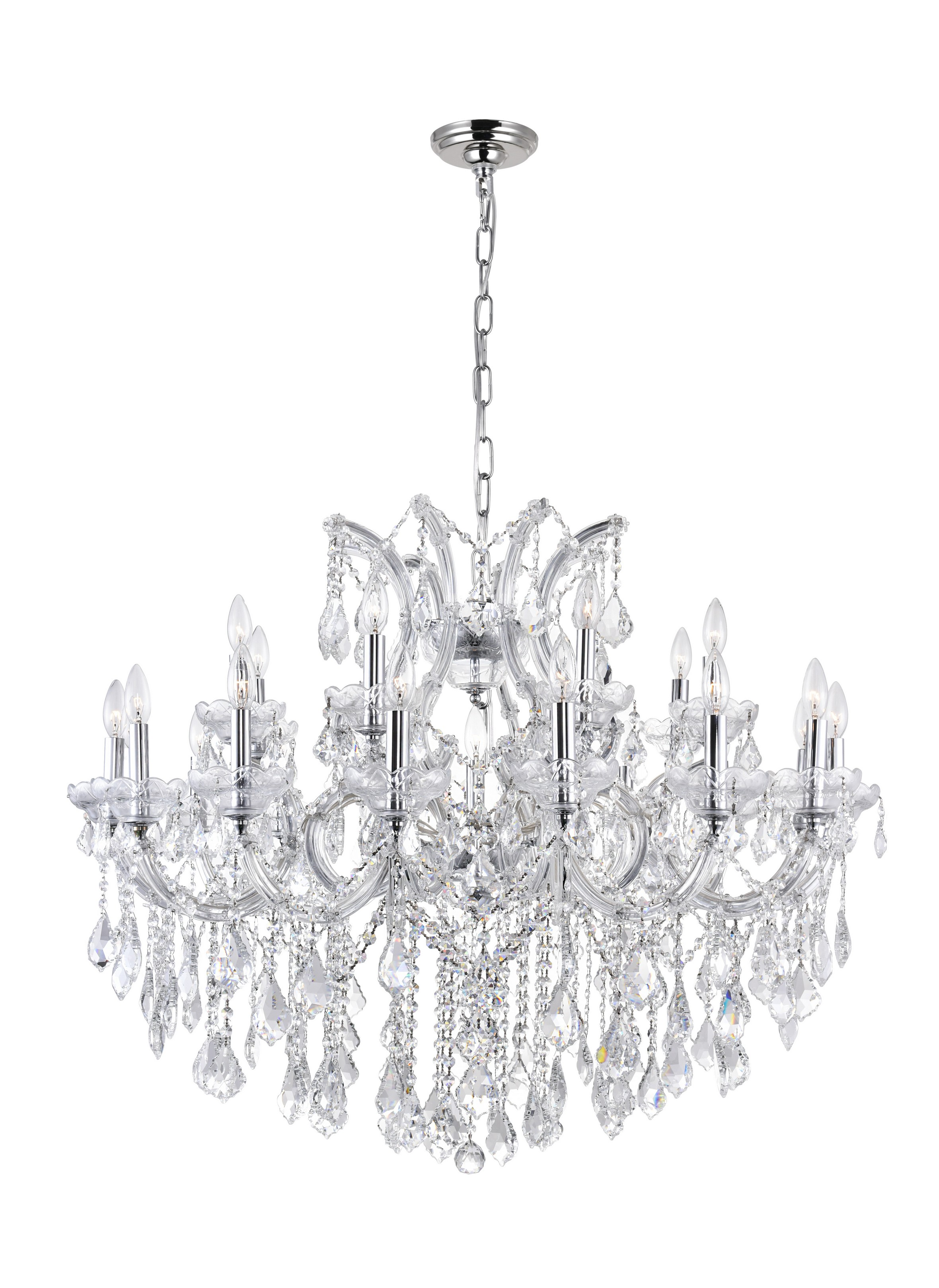 25 Light Up Chandelier with Chrome finish