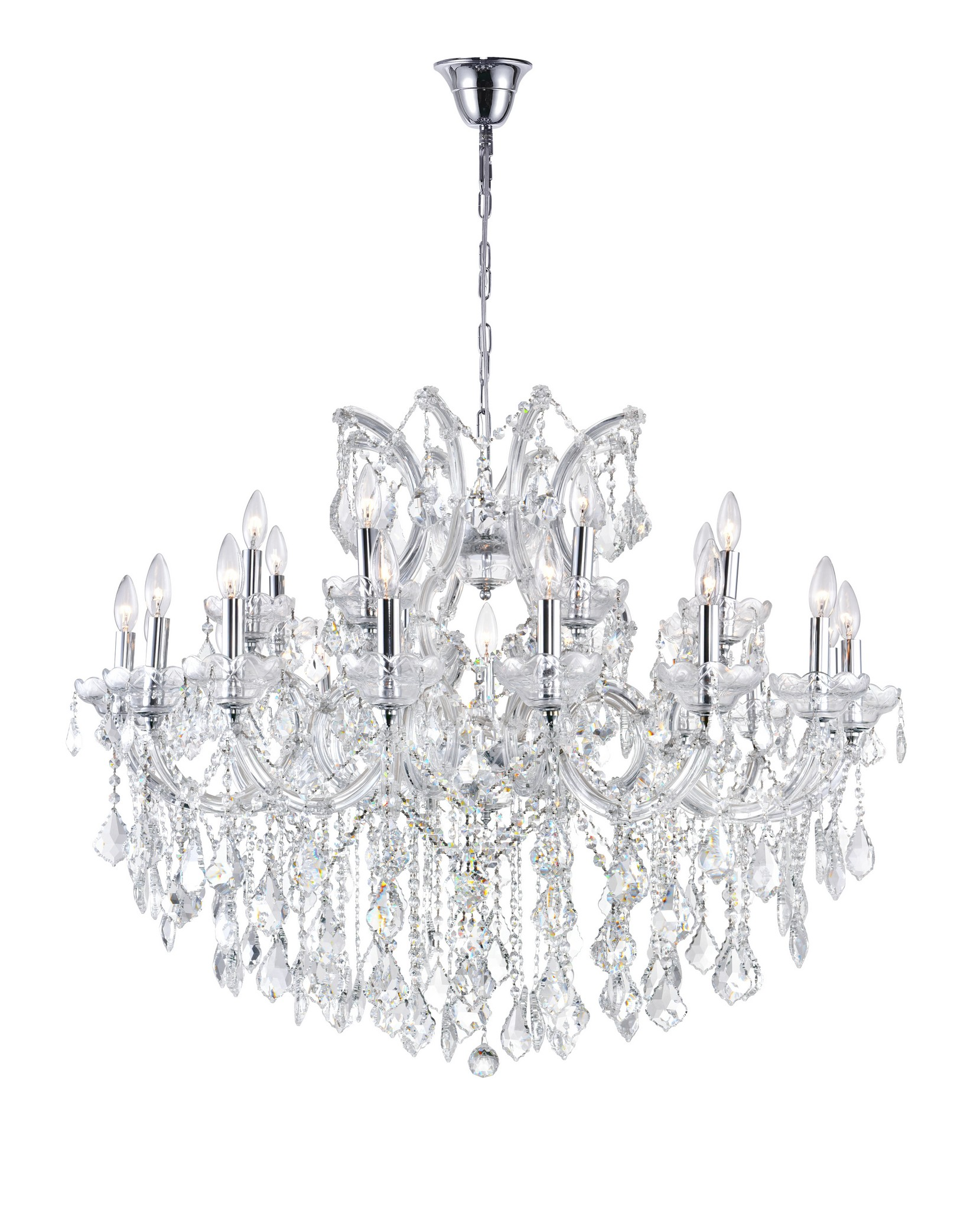 19 Light Up Chandelier with Chrome finish
