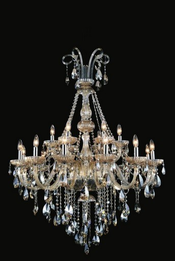 8 Light Up Chandelier with Chrome finish