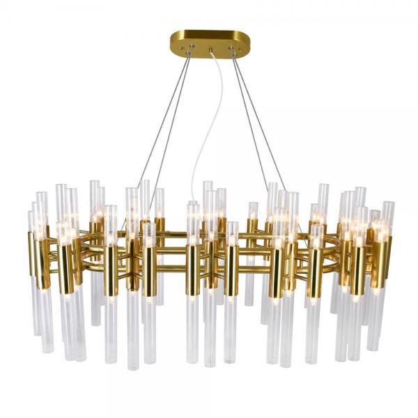 72 Light Chandelier with Brass Finish