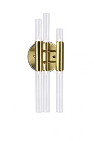 6 Light Sconce with Brass Finish