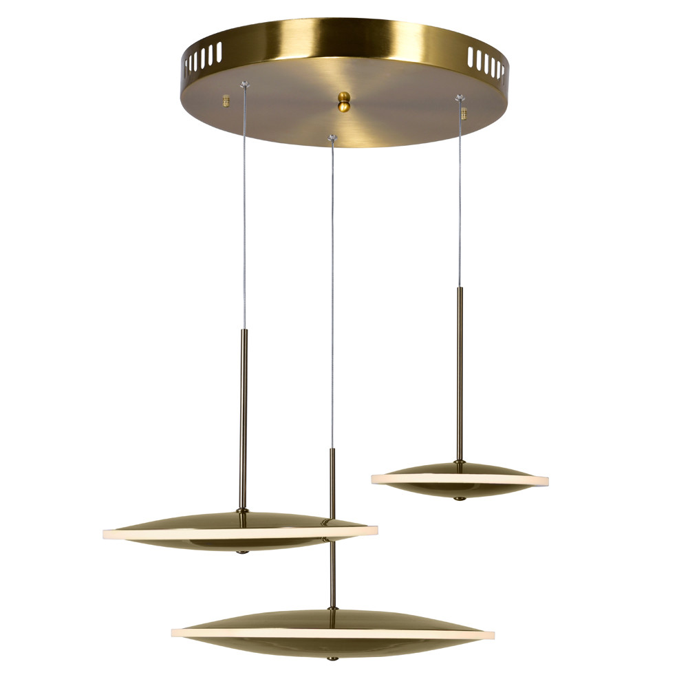 LED Pendant with Brass Finish