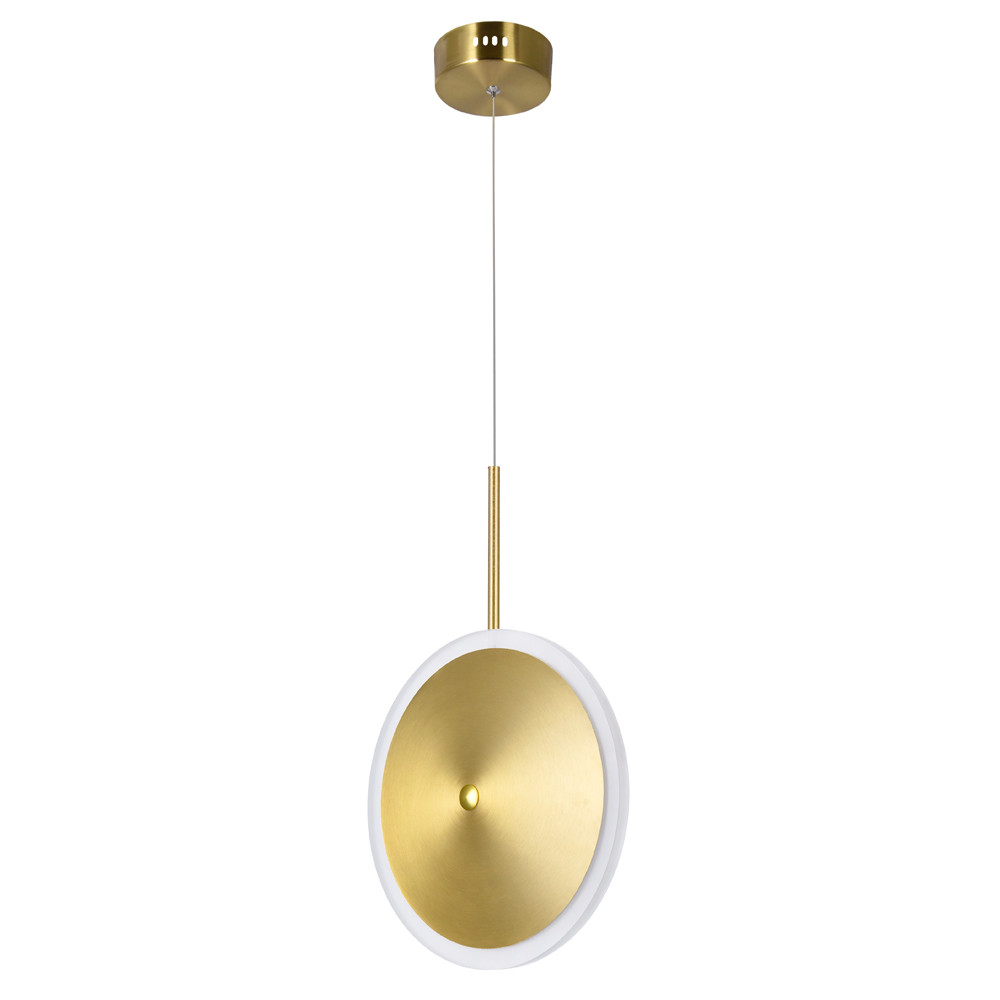 LED Mini Pendant with Brass Finish