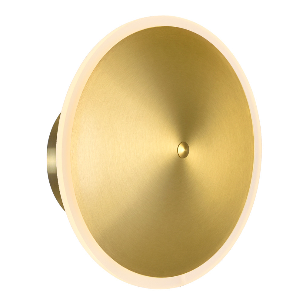 LED Sconce with Brass Finish