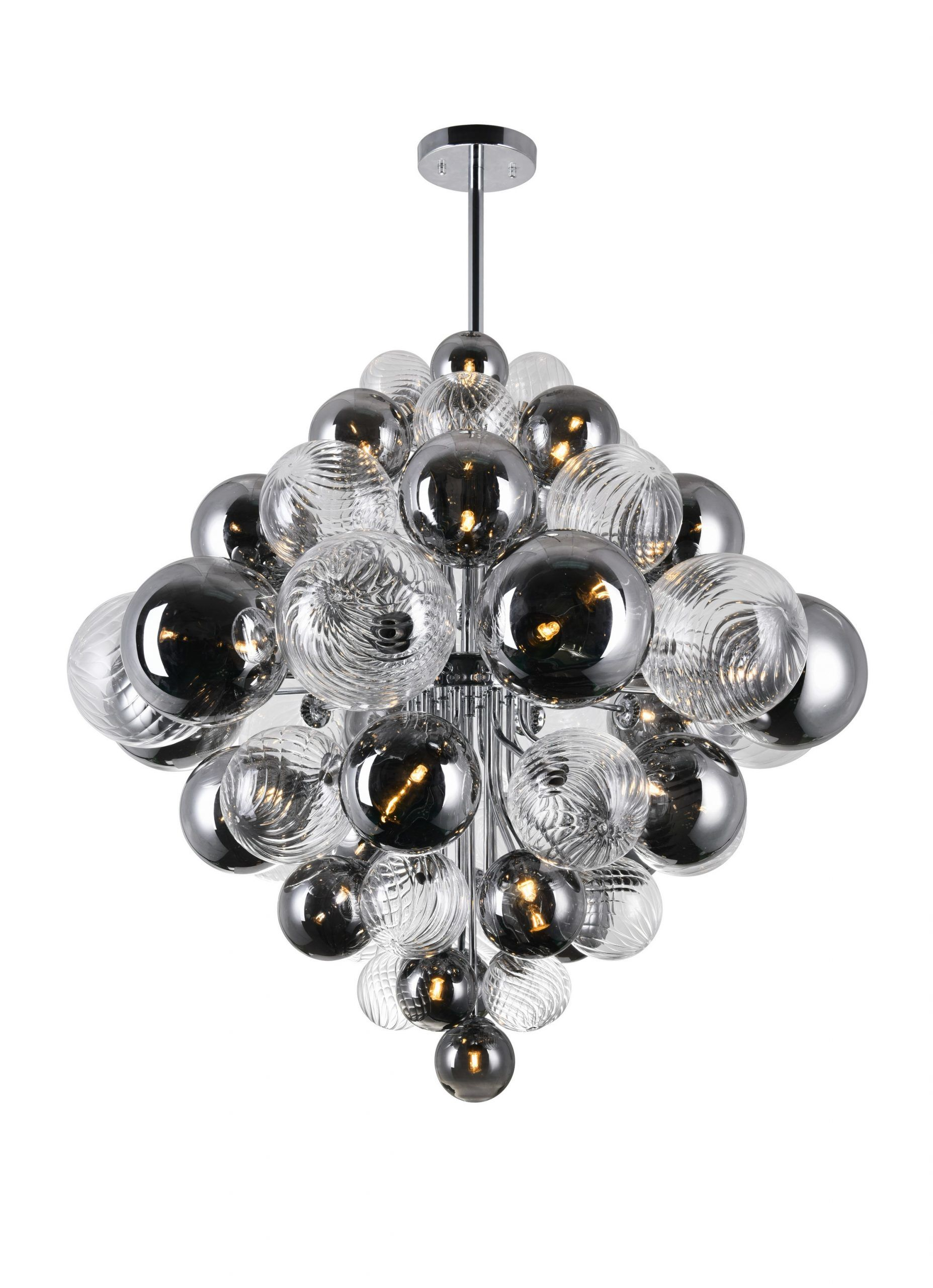 27 Light Chandelier with Chrome Finish