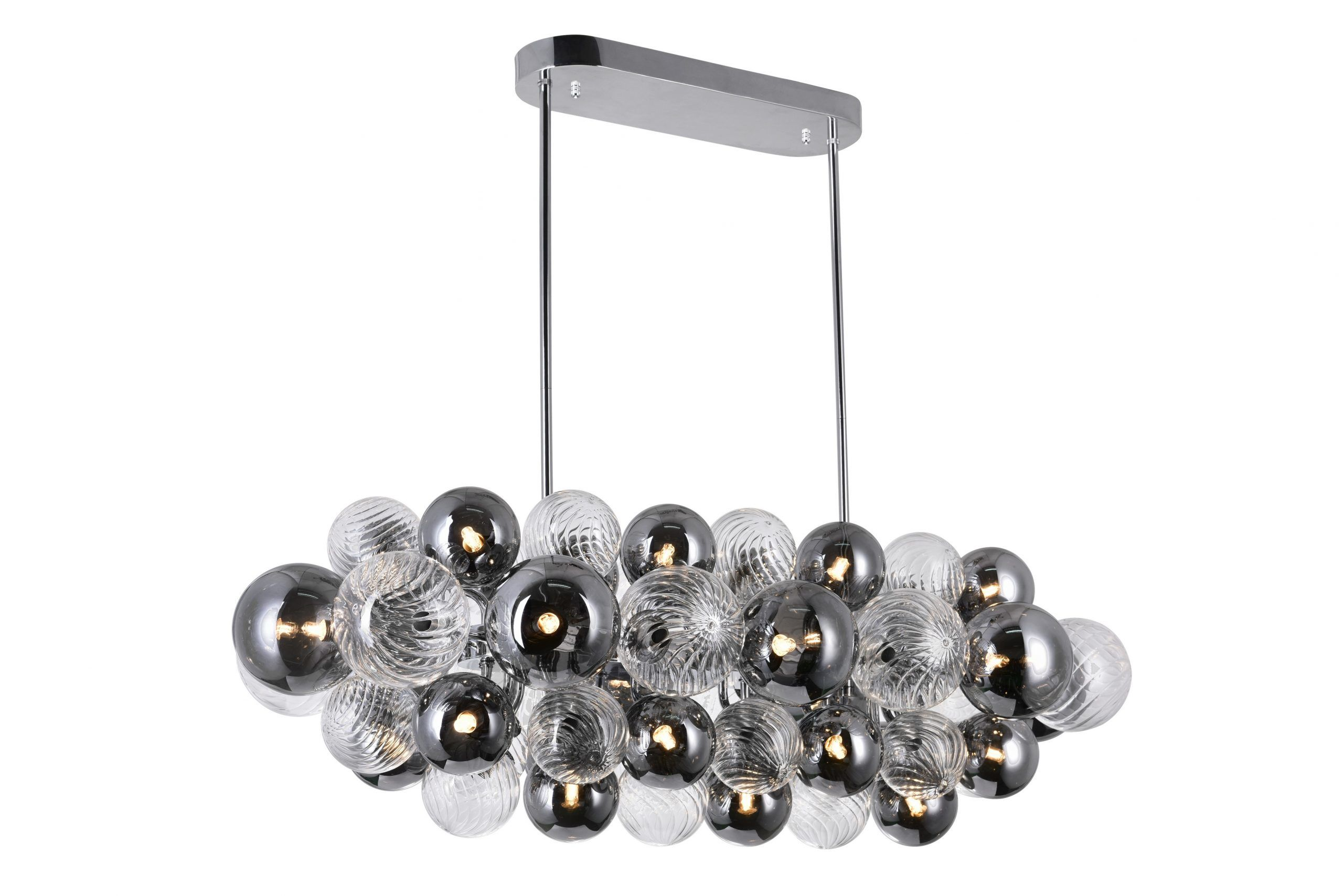 27 Light Island/Pool Table Chandelier with Chrome Finish