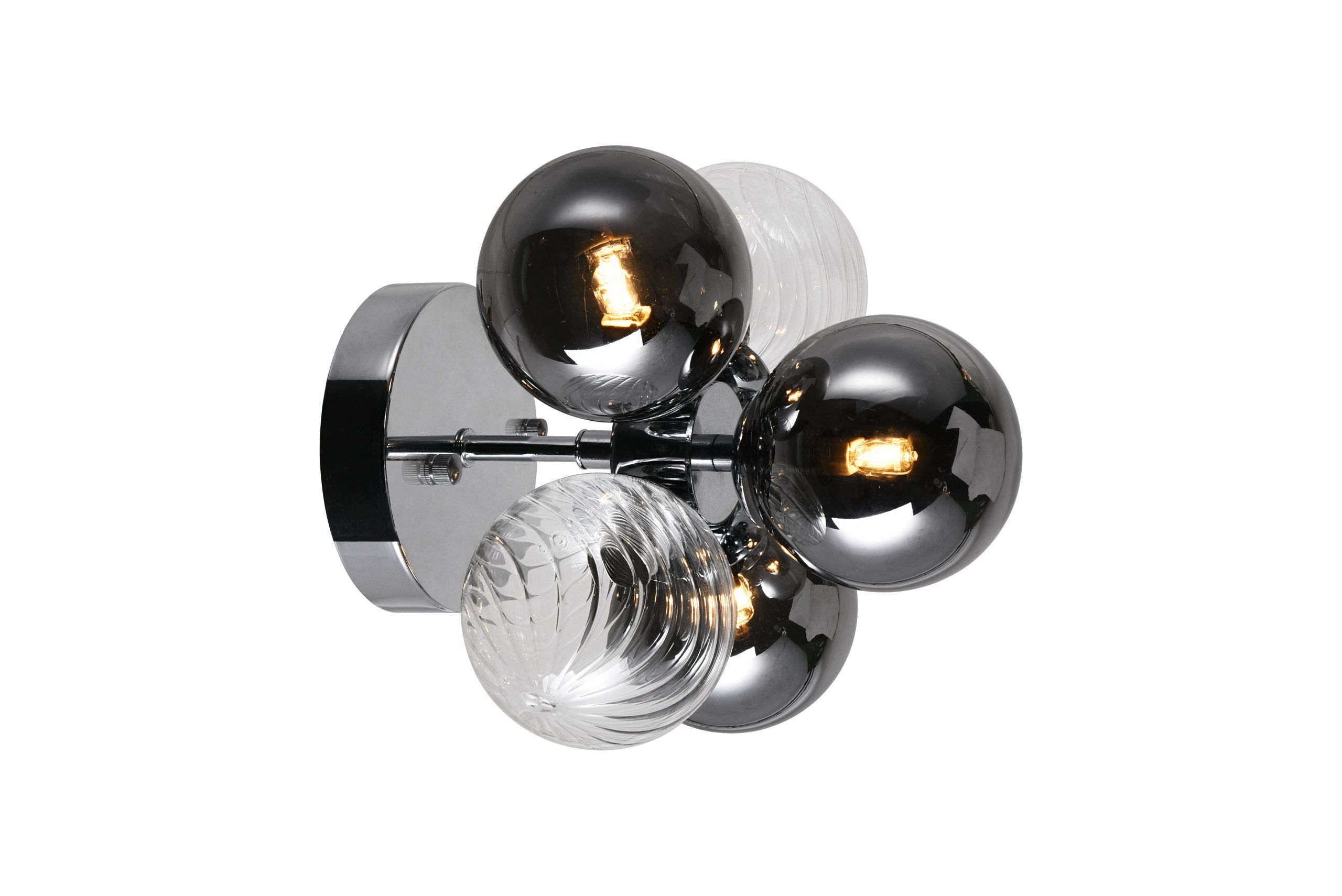 3 Light Sconce with Chrome Finish