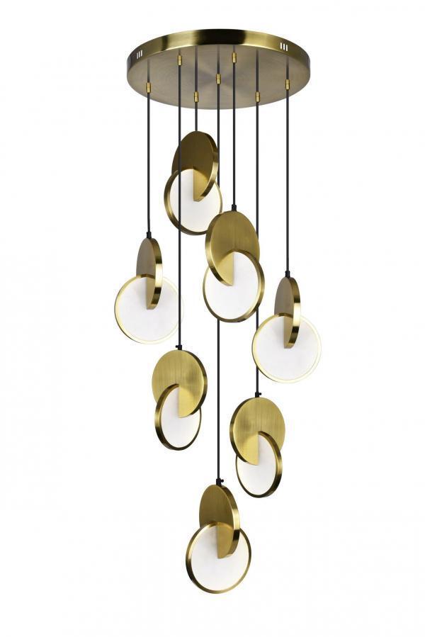 LED Pendant with Brushed Brass Finish