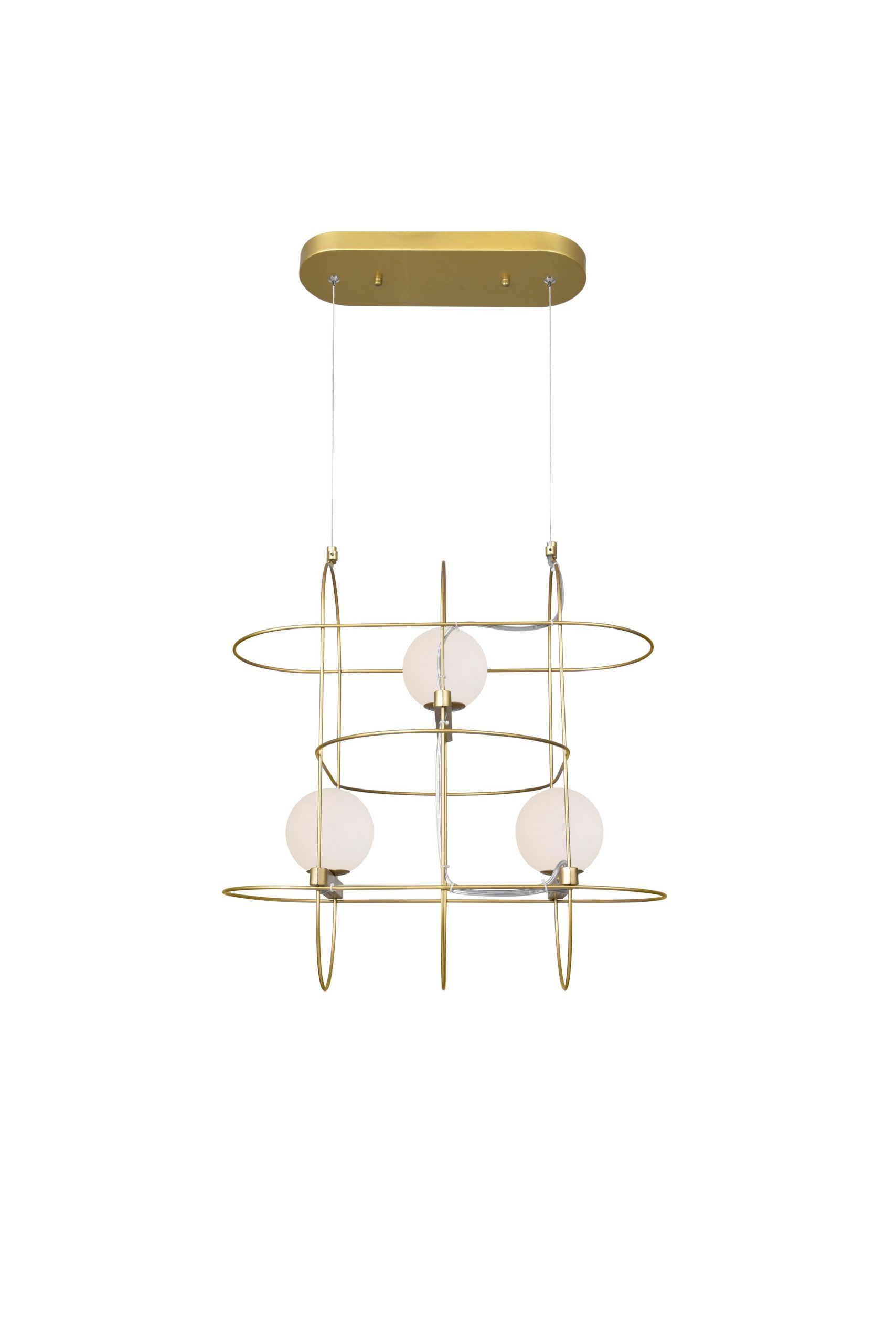 3 Light Chandelier with Medallion Gold Finish