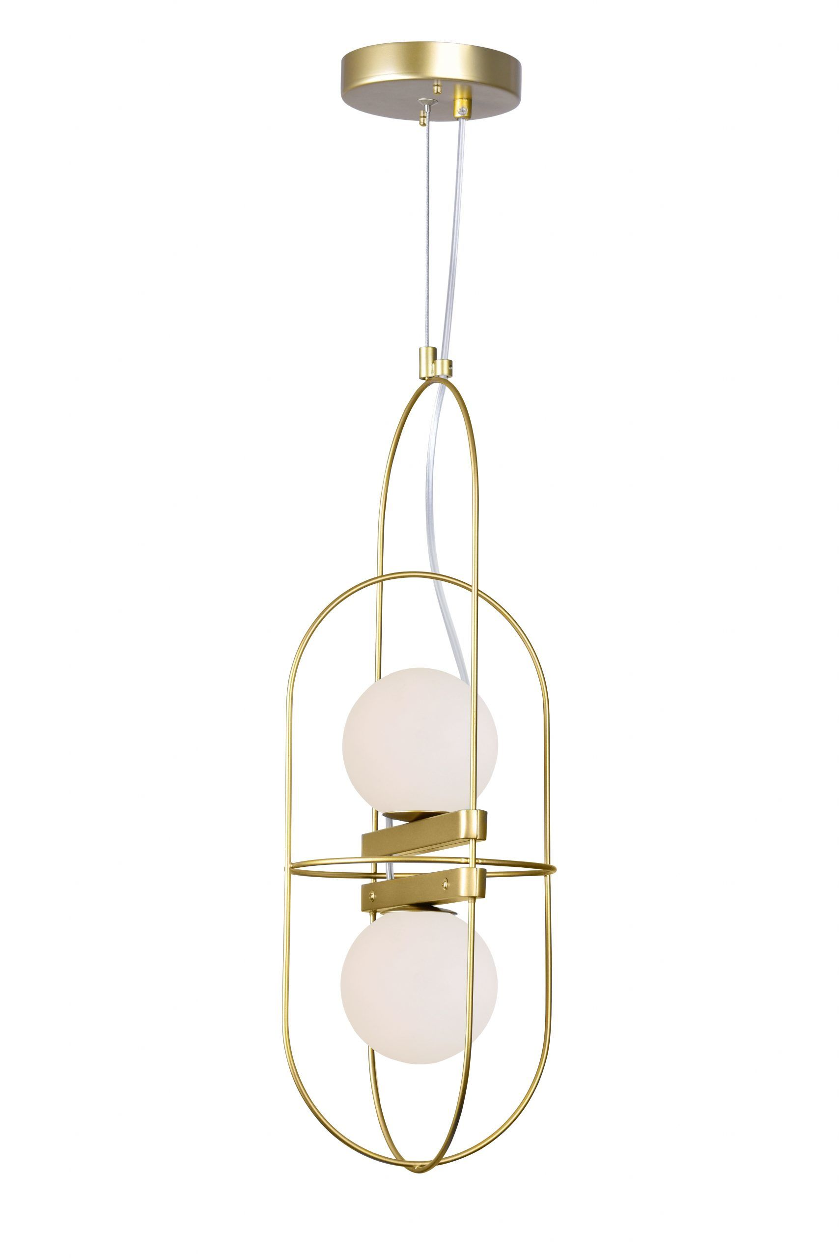 2 Light Pendant with Medallion Gold Finish