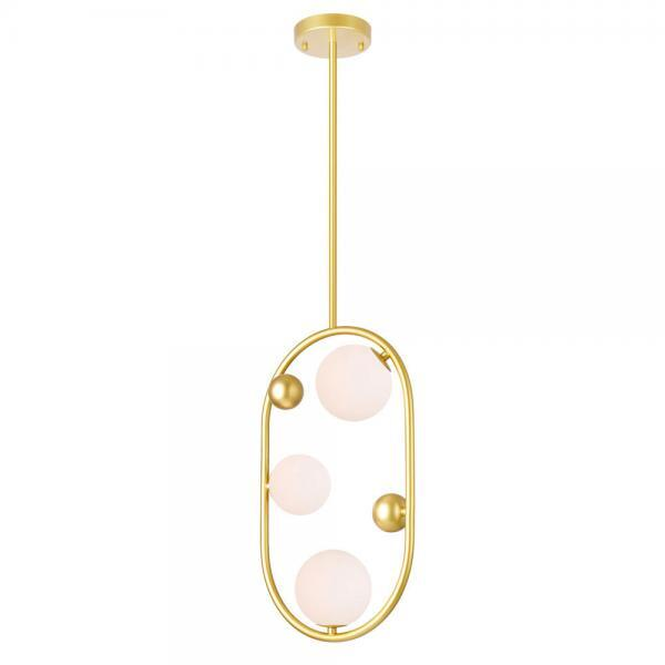 3 Light Mini Pendant with Medallion Gold Finish