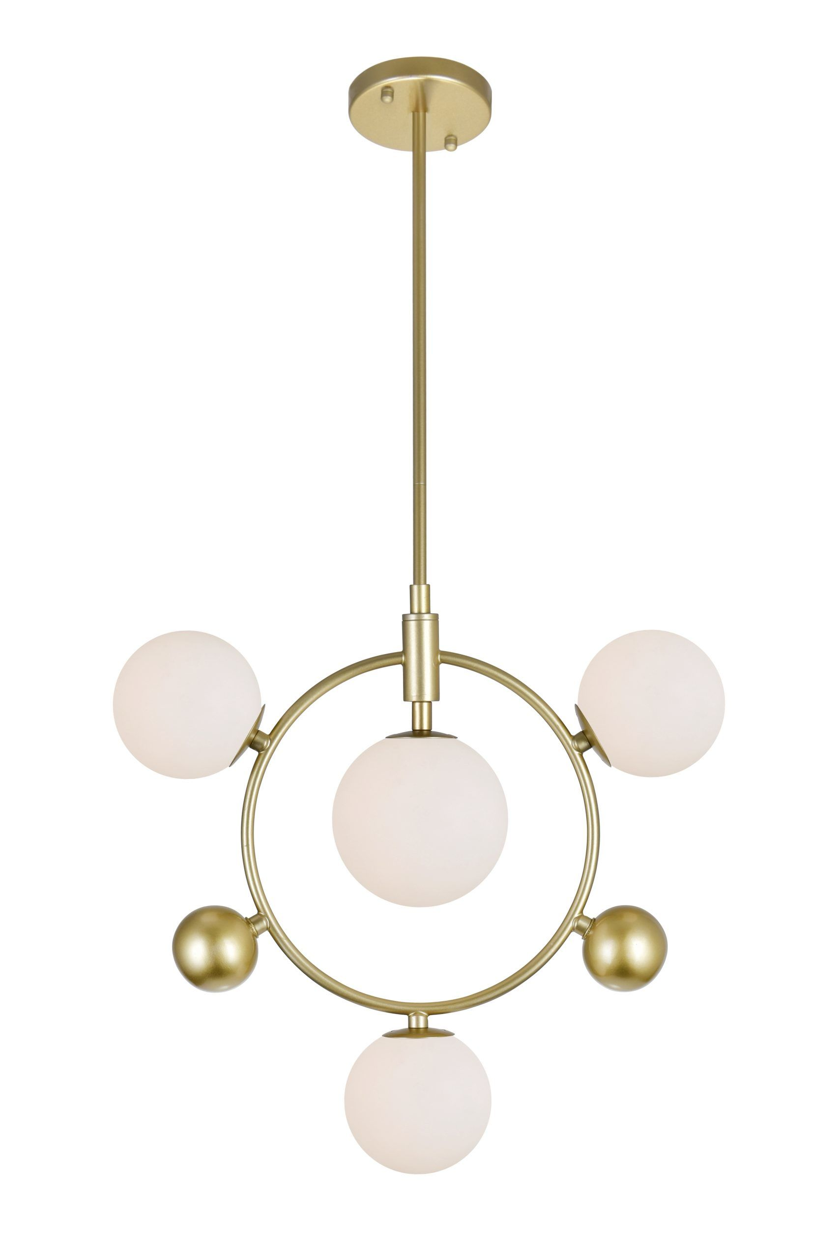 4 Light Pendant with Medallion Gold Finish
