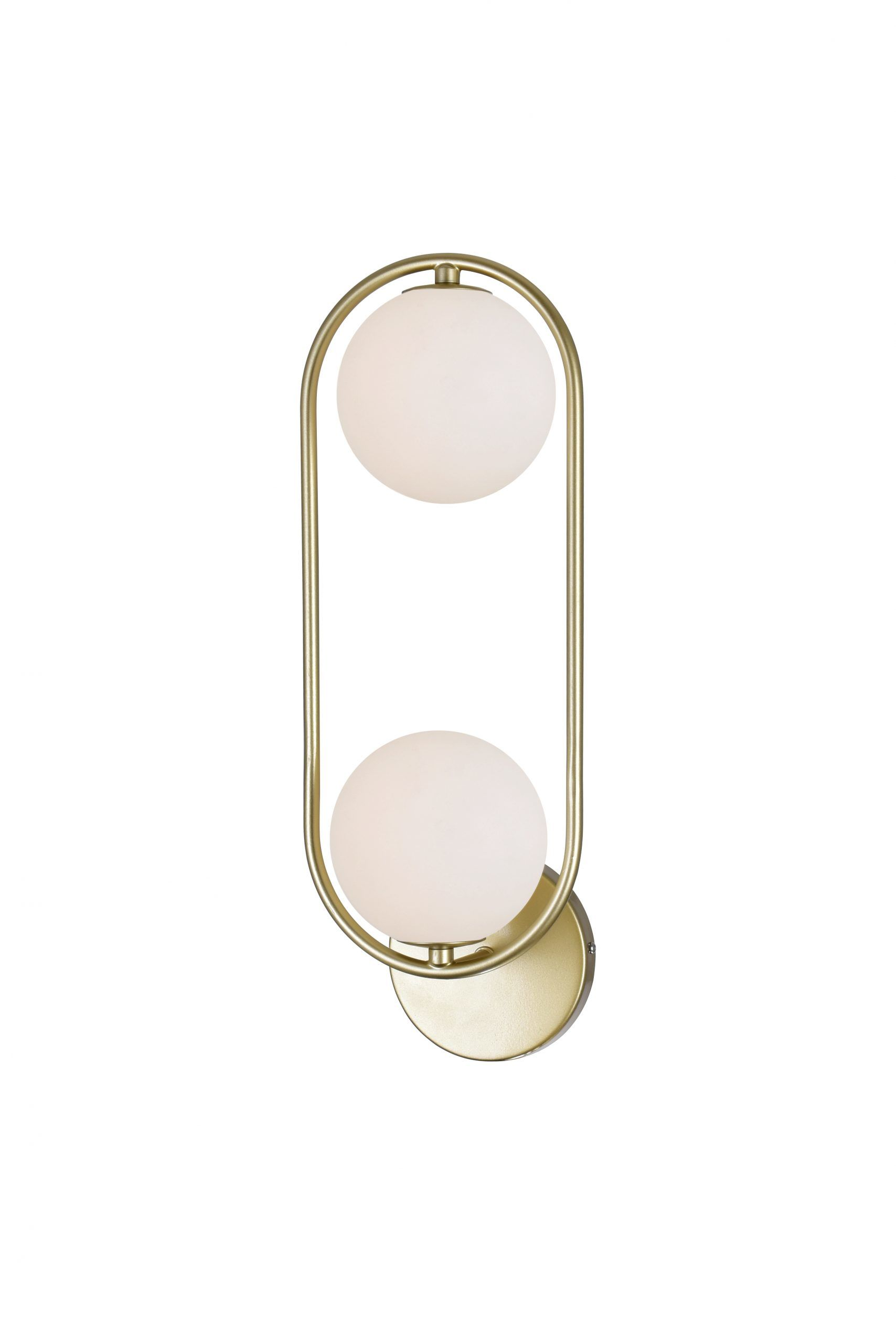 2 Light Sconce with Medallion Gold Finish