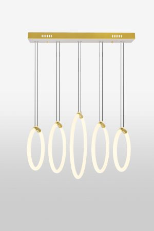 Hoops 5-Light Chandelier